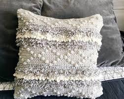 gray throw pillows. Simple Gray Crochet Pattern Pillow Pillow Crochet Pattern  For Home Cushion Home Decor Throw Throughout Gray Throw Pillows Y