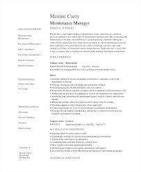Apartment Maintenance Supervisor Resume Maintenance Manager Resume