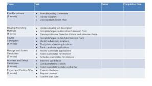 Recruitment Strategy Template Excel And Word Excel Tmp