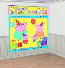 peppa pig scene setter wall decorating kit plastic