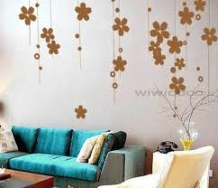 blue sofa hanging flowers gorgeous flower vine removable floral wall art home decors birch on vase on home wall arts with wall art adorable gallery of floral wall art ceramic floral wall