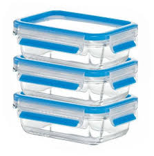 EMSA <b>Набор из 3 контейнеров</b> CLIP & CLOSE GLASS 514170 ...