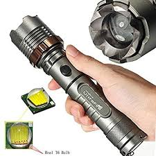 Tactical Police <b>12000LM</b> XM-L T6 <b>LED</b> 5Modes 18650 Flashlight ...