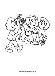 Kleurplaat Bloemen Moederdag Feestdagen