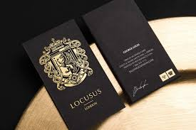Buisness Card Online Triplex Business Cards With Gold Foil Stamping Photo 1