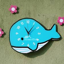 novelty wall clocks wooden whale unique