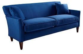 milo 80 sofa royal blue velvet