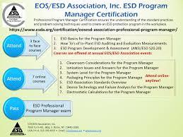 Esd Org Chart Eos Esd Association Inc Professional Program Manager Eos