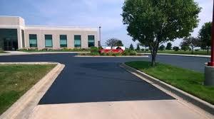 a concrete driveway before laying asphalt