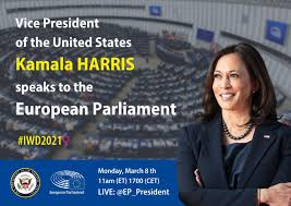 Learn with flashcards, games and more — for free. Us Vice President Kamala Harris Speaks At The European Parliament Plenary On International Women S Day 2021 Eplo News European Parliament Liaison Office In Washington