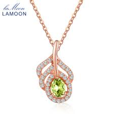 LAMOON Pure Silver Necklace <b>S925 Fine Jewelry</b> Rose Gold ...