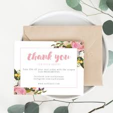 Business Thank You Card Template Printable Business Thank You Cards Template Olivia All About 5