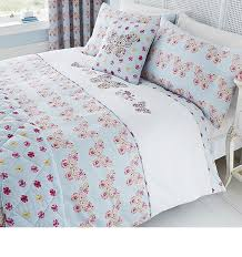 catherine lansfield embroidered erfly reversible super king duvet cover set