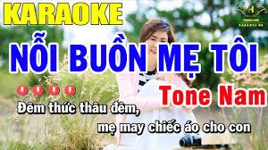 Karaoke Nỗi Buồn Mẹ Tôi Tone Nam Nhạc Sống | Trọng Hiếu - Dễ ca nhất cho  nam và nữ - #1 Xem lời bài hát