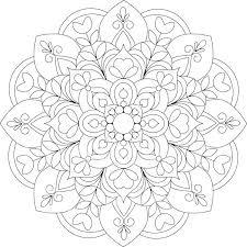 Printable Flower Mandala Coloring Pages Mandala Printable Coloring