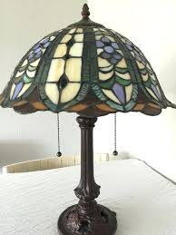 tiffany style desk lamp handmade style desk lamp with two lights and two pull switch cords tiffany style desk lamp