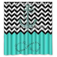 teal and black shower curtain. buy black and white chevron anchor sailor quote green waterproof bathroom polyester fabric shower curtain 66 x 72 in cheap price on alibaba.com teal e