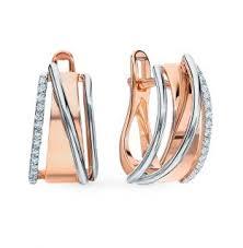 Золотые <b>серьги</b> с <b>бриллиантами</b> АЛЬКОР: красное и розовое ...