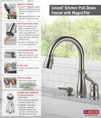 Leland Delta Kitchen Faucet Delta Leland Single Handle Pull Down Sprayer Kitchen Faucet With