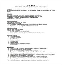 Business Resume Template Word Business Resume Template 11 Free Word Excel  Pdf Format Printable