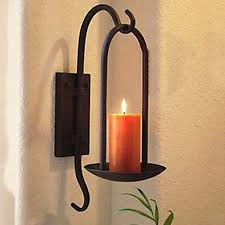 iron votive wall candle holder