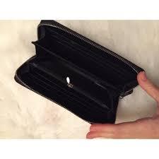 lemonade lux swarovski crystal large leather wallet black