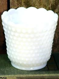 hobnail glass fire king milk vase vintage by lamp globe small pitcher hobnail glass fire king milk vase vintage by lamp globe small pitcher