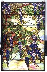 tiffany stain glass stained windows wisteria snowball window dome chicago