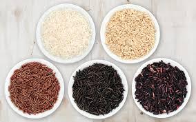 brown rice vs white rice.  White Inside Brown Rice Vs White