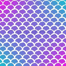 Mermaid Pattern Awesome Mermaid Scale On Trendy Gradient Background Square Backdrop With