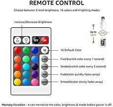 LE RGB <b>Color</b> Changing Light Bulbs with Remote, Dimmable 40 Watt