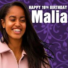 Image result for malia obama blows her 19th birthday cake