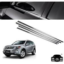 trigcars mahindra xuv 500 car window lower garnish chrome