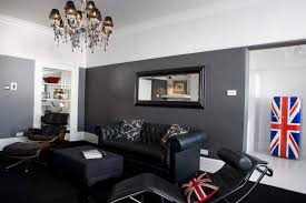 Living Room Black Leather Sofa 20 Best Gray Paint Colors For Living Room Suggested By Top