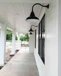 warehouse style lighting. Rustic Farmhouse Light Fixtures Style Led Barn Black Gooseneck Warehouse Lighting
