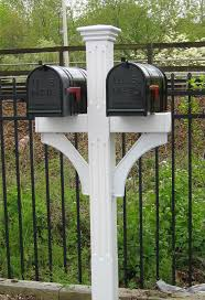 double mailbox designs. Double Mailbox Post | Fluted - Recessed Panel Vinyl Designs