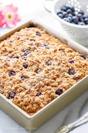 I mean, cake for breakfast is a real thing right? Blueberry Coffee Cake With Cinnamon Streusel Saving Room For Dessert