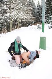 Couple sex in the snow