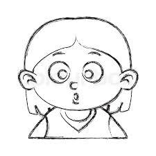 Cute Girl Face Cartoon Icon Vector Stock Vector Colourbox