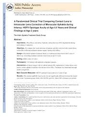 Pdf Comparison Of Contact Lens And Intraocular Lens