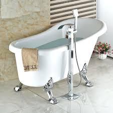 floor mount bathtub faucet single handle free standing bathroom waterfall bathtub faucet brass tub mixer taps
