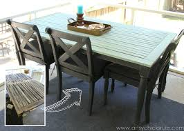 patio table re do bef aft duck egg blue chalk paint artsyrule