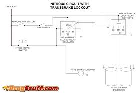 nitrous system wiring diagrams dragstuff single stage nos system transbrake interrupt relay