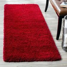 large red plush rug cozy x 7 on