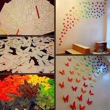 diy paper erflies wall art genius home decor ideas 21