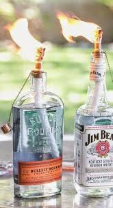 Decorative Liquor Bottles How To Make Your Own DIY Whiskey Bottle Tiki Torch Whiskey 13