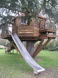 Fine Kids Tree Houses With Slides Find This Pin And More On To Inspiration