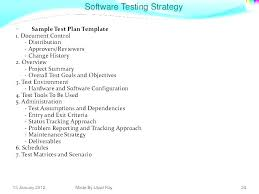 Test Plan And Test Strategy Template Automation Test Plan