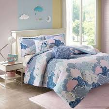 pink twin xl bedding unicorn bedding bedroom decor unique cloud 9 forter set blue