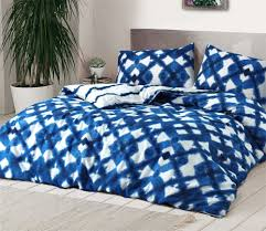 details about tie dyed blue bed duvet cover set bedding set single double king